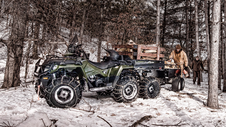 SPORTSMAN 6X6 570 EPS - Go Further on a Single Tank of Gas